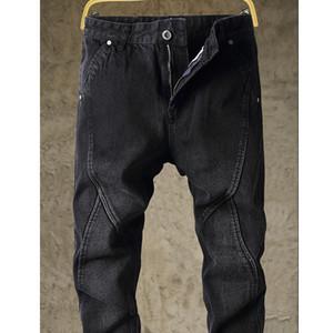 Jeans neri degli uomini più il formato slacciano grande 2020 uomini nuovi primaverili demin nero jeans grande TAOH