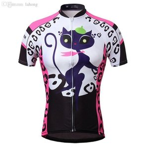 2020 Wholesale -2015 Cat Girl Women &#039 ;S Bike Sportwear Cycling Clothing Bicycle Short Sleeve Jersey Top Quick Dry