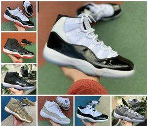 Neue 11 11s Hohe Concord 45 Space Jam Snakeskin Herren-Basketball-Schuhe Bred Heiress Gamma Blau Schlangehaut Männer Sport Designer Turnschuh-Trainer