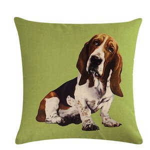 Yastık Kılıf Yastık Kapak Ev Köpek Desen Serisi Yastık Ev Dekorasyonu Yastık Yastık 45 * 45cm Koltuk Seat Kapaklar atın