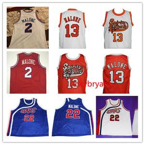 NCAA College Basketball Geist von St. Louis Jersey 13 MOSES 2 MALONE Trikot nach Maß Genähte Retro-Trikot-Stickerei Größe S-5XL