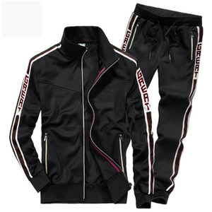 AFS ZDJP  New Men Sets Fashion Autumn Spring Sporting Suit Sweatshirt +Sweatpants Mens Clothing 2 Pieces Sets Slim Tracksui