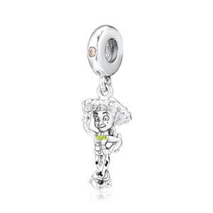 2019 Novo real 925 Sterling Silver Beads Toy Jessie Pendant Dangle encanto caber Original Europeu Feminino Pulseiras Mulheres DIY Jóias