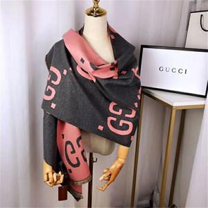Luxe écharpe d'hiver pour la marque des femmes, concepteur de la laine de la marque et le coton marque écharpe alphabet couleur féminine de la mode foulard hommes