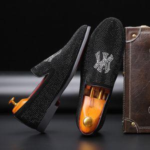 Rhinestone Masculino Shoe Shoe Penteado Division One Pedal Masculino sapatos