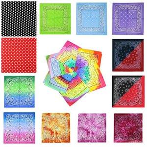 Tie Dye Pañuelo Unisex Ciclismo plaza al aire libre Pañuelos Gradiente Hip Hop colorido pañuelo para Imprimir Turbante DDA114