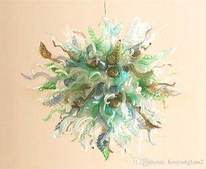 El envío libre 100% de borosilicato soplado decoración del hogar moderno Murano Glass Art nuevo estilo decorativo colgante de la lámpara de luz
