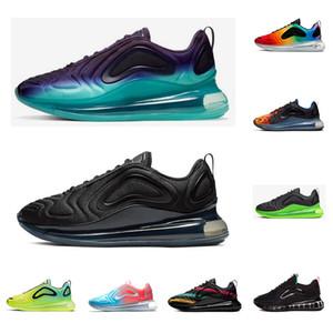 Nike air max 720 720s Новые дизайнерские многоцветные кроссовки для мужчин и женщин Be True Pride тройной черный закат Вольт северное сияние мужские кроссовки спортивные кроссовки