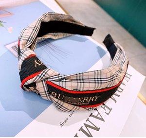Popular 4 cores Designer Bandas Headband famosa carta elástico de cabelo Moda Marca Headband Silk Luxury Jewelry Melhor Presente Para As Mulheres