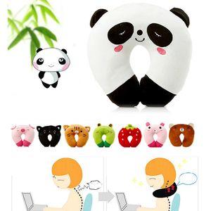 9 colores suave en forma de U almohada de protección para el cuello del sueño almohada cojín de oficina lindas almohadas de viaje encantadoras para niños / adultos