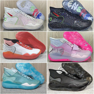2020 Nouveau Zoom KD 12 Kevin Durant Kds 12 s ce que la tante perle bleu regard YouTube amis d'enfance Kd12 Sport Sneakers formateurs Zapatos