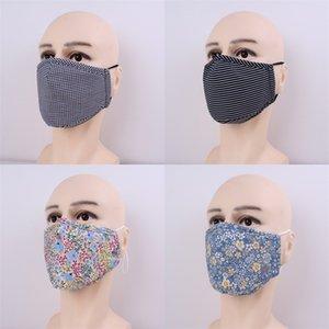 Anti Haze Bouche respirateurs Stripe Etoiles Fleur réutilisable Mascarilla Masque anti-poussière respirant Tissu en coton Lady Protect Man 5jma B2