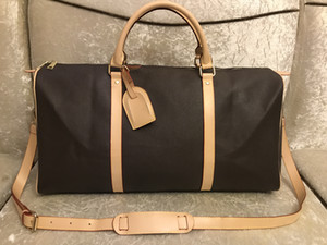 2019 Новая мода мужчины женщины кожа сумка вещевой мешок, кожа багажные сумки большой емкости спортивная сумка 55см