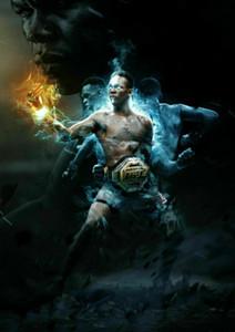 Regalos de Israel Stylebender Adesanya UFC Champ Silk Art impresión del cartel
