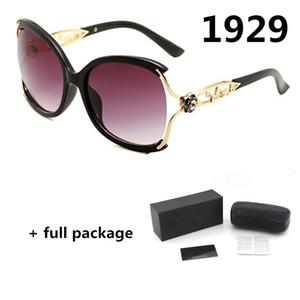 Neue Damen Designer-Sonnenbrille 1929 Blume Mode Brillen Luxus große Rahmengläser 4 Farben mit Original Box