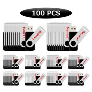 컴퓨터 노트북 맥북 Tablest 블랙 대량 100PCS 회전 USB 2.0 플래시 드라이브 엄지 펜 드라이브 64메가바이트-32 기가 바이트 USB 메모리 스틱 엄지 저장