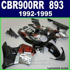 Brand new fairing kit Honda CBR900RR CBR 893 1992-1995 black red flames fairings set CBR 900 RR 09 10 11 WW50