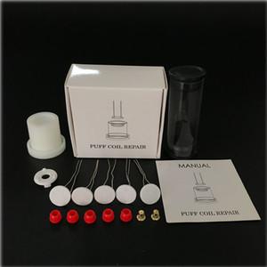 Réparation de pointe Coil Kit de pointe de réparation avec élément de chauffage Epaisseur Coil 5pcs avec Œillets et Aligment Jig Atomiseur