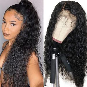 Натуральные черные коричневые цветные синтетические парики для чернокожих женщин свободные курчавые волны кружева передний парик Детские волосы предварительно сорванные термостойкие 24 дюйма