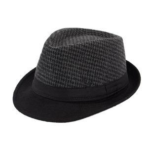 Erkekler Fedora Şapka Klasik Kalın Kısa Brim Manhattan Gangster Trilby Cap Pamuk Blend Moda Kadınlar Trilby Şapka