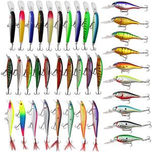 Assortiment de leurres de pêche Set Crankbaits dur leurre Minnow s'attaquer avec Treble Hooks appâts de pêche en eau salée leurres