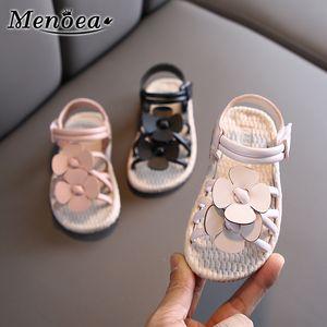 Menoea Kız Sandalet 2020 Yaz Moda Stil Bebek Bebek Sevimli Ayakkabı Çiçek Sandalet Çocuk Plaj Flats Çocuk Çiçek Ayakkabı