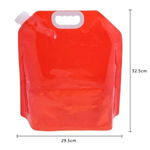 Foldable Transparent Drinking Water Bag Outdoor Sports Hiking Portable 5L Food Grade PE Water Container Carrier Storage Bag