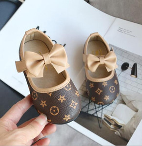 Chaussures enfants Bébé Tout d'abord Walkers Mode Chaussures fille infantile princesse du nouveau-né Chaussures bowknot chaussures en cuir pour enfants