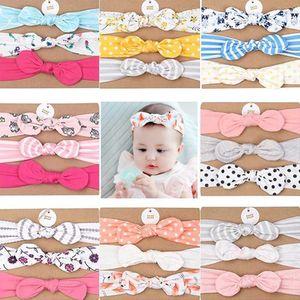 3pcs set New baby elastic headband Bow Solid Headwear Bandage For Cute Kids Girls Head Wrap Children Soft Cotton Turban Hairband