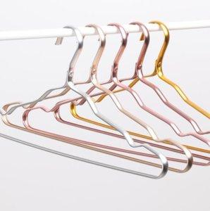 DHL Space aluminium kleiderbügel aluminiumlegierung keine spur kleidung unterstützung haushalt rutschfeste kleidung hängen N3 winddicht rostfrei rack 41 * 19 CM