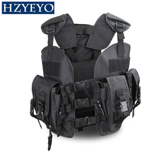 Mini Tactical Pecho Rig Airsoft Caza Chaleco Guardabosques Verde Militar Tactical Vest + 3L Waterbag Volver, HZYEYO, H-007