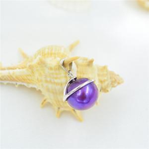 Versão coreana de prata jóias S925 Silver Pearl Pendant Mount Colar personalidade da moda feminina DIY acessórios suporte vazio