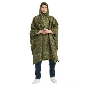 WaPMF nylon 300D Oxford camouflage imper Camping pêche jungle aventure poncho multifonctionnelle camouflage 300D Oxford en nylon imperméable Cl