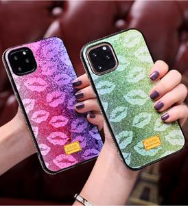 Menina lábios sexy beijo TPU Bling diamante Phone Case Capa para iPhone 11 Pro ProMax XR X XS MAX Coque Shell