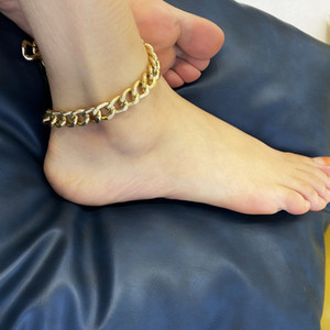 Punk Stainless Steel Gold Thick Anklet Cuban Link Chain Anklets For Women Sexy Chunky Ankle Bracelet Leg Chain Beach Foot Jewelry