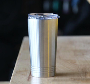 16oz Pint flat Tumbler Travel Mug Gift Vacuum Insulated Coffee beer Cup Stainless Steel Tumbler with Lid in stock A10