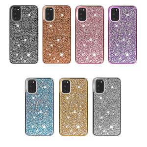 pour iPhone 12 bling PC + TPU Case Glitter Phone Case pour iPhone 8 12 Mini 11 11 Pro Xr Xs MAX pour Samsung S20 Note 20
