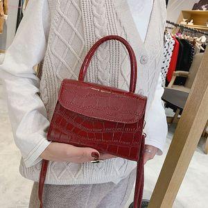 Bolsa Feminina Fashion Alligator Top Handle Handbag Designer Women Crossbody Bag Shoulder Messenger Bags For Women 2020 Sac A20