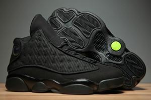 En gros NOUVEAU 13 XIII OG Black Cat Tous les noirs 13s Hommes Femmes Enfants Chaussures de basketball Baskets de sport Baskets Haute Qualité