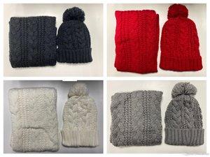 new hot High quality men and women designer hat scarf set warm European high-end brand hat scarf fashion accessories Hoodies Beanies