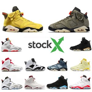 Nike AIR JORDAN Retro 6 shoes DMP 6 PSG 6s Hombres Zapatillas de baloncesto UNC Tinker Infrarrojo negro Gatorade Alternativo Trigo deportivo Azul  Hombres zapatillas deportivas