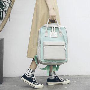 Mulheres à prova d'água bolsas de lona mochilas escolares para meninas adolescentes Big Laptop Backpack Patchwork Kanken Backpack fresco Mochila