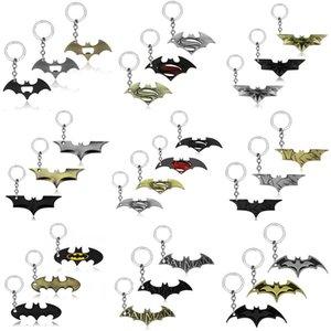 JY nouvelle arrivée batman porte-clés en alliage super-héros batman figure comics porte-clés porte-clés film bijoux