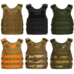 Mini Camouflage Vest copertura Birra regolabile spallacci Camouflage copertina Birra Beverage Vest per Party Bar Decoration HHA793