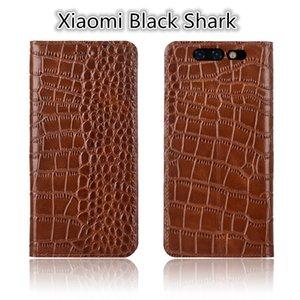 QX02 cuero genuino Flip Case Stand Coque para Xiaomi Black Shark Phone Case para Xiaomi Black Shark Phone Bag con soporte Coque