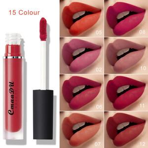 CmaaDu Perfect Matte Liquid Lipgloss Long Lasting diary Lip Strick Brand Cosmetics Makeup lip Gloss 15Colors Lipgloss New Arrival