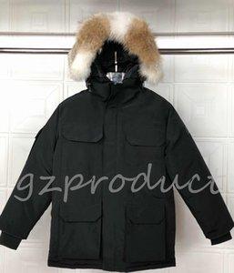 РЕАЛЬНЫЙ WOLF FUR Новый стиль Relaxed Top Quality Канада Jacket PBI ЭКСПЕДИЦИЯ PARKA FUSION FIT мужчин зимние пальто вниз ветровки