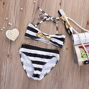 3PCS mignon Bow Maillot 2020 New Summer Enfants de Split Maillot de bain Bikini Girls Belles enfants Maillots filles pour enfants Bikini