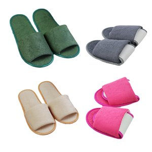 Nueva forma sencilla Zapatillas Hombres Mujeres Hotel Travel Spa Casa plegable portátil sliedes desechable Inicio zapatillas de interior Zapatos