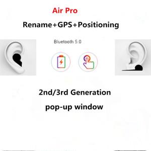 Gen3 AP3 pro Wireless Charging Generation 3 Sensor rename GPS H1 Chip Bluetooth Earbuds Headphones Auto paring Earphones pop up windownes